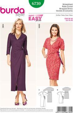 Slå-om kjole, kimonoærmer