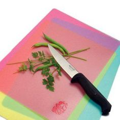 Dollar Store flexible cutting boards that are usually 2/$1