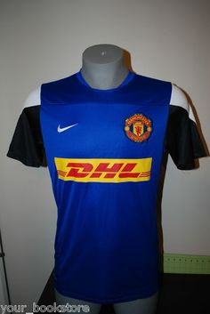 0149374f3 New Nike Manchester United FC DHL Football Club Soccer Dri-Fit Stay Cool  Jersey Motorcycle