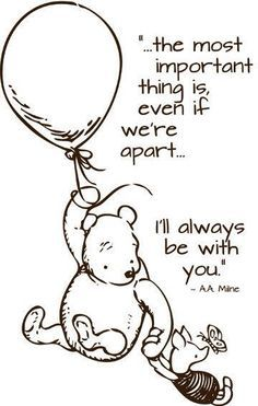 Mom loves Pooh and his little sayings. When I was growing up, Mom had a denim jumper with Pooh and friends on it. Every time I see Pooh, I remember that jumper and her. Christopher Robin Quotes, World Disney, Rm Drake, Winnie The Pooh Quotes, Winnie The Pooh Tattoos, Pooh Bear, Me Quotes, Quotes Girls, Daddy Quotes