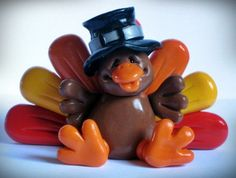 multiple polymer clay Thanksgiving ideas - no tuts, only photos