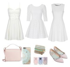 """""""Luv white with pastels"""" by ammarah-razvi on Polyvore featuring Valentino, Lilly Pulitzer, True Decadence, Dolce&Gabbana, ALDO, Nails Inc. and Casetify"""