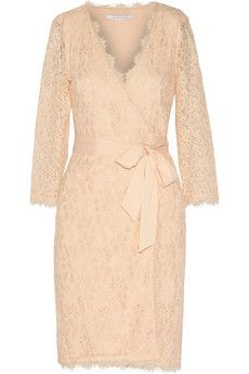 Diane von Furstenberg Julianna lace wrap dress | THE OUTNET