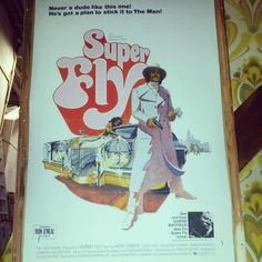 We went backstage to find out what that poster is in Sweaty Eddie's House. Classic 70s Blaxploitation flick Superfly - of course! Behind the scenes of Sister Act the Musical, 25 July - 30 August 2014.
