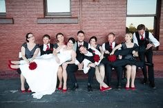 Toowoomba Wedding - Megan & Stephen. Not everything about weddings is serious :)