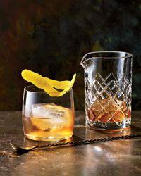 monaco friar (holiday cocktail): ice, 2 oz scotch, 1/2 oz bénédictine, 3 dashes angostura bitters, lemon twist garnish