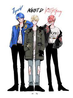 Taehyung Fanart, Jimin Fanart, Bts Taehyung, Bts Jimin, Bts Manga, Bts Anime, Anime Guys, Kpop Fanart, Foto Bts