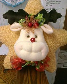 *** #decoraciondecocinasmanualidades Felt Christmas Decorations, Christmas Tree Toppers, Christmas Fun, Christmas Wreaths, Christmas Ornaments, Holiday Decor, Diy And Crafts, Christmas Crafts, Primitive Christmas