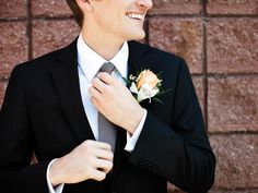 Daniel and tie/flower/pocket square