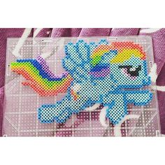 MLP Rainbow Dash perler beads by maimerd