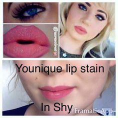 Shy Lipstain from Younique .. get yours here www.katseyesandfabulashes.com #beautiful colour #longlastingcolour #getithere *** £18 ***