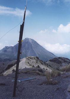 Seismometer for Volcan de Fuego on nearby Nevado de Colima (Mt 4200m), Mexico