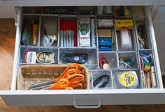 awesome looking junk drawer