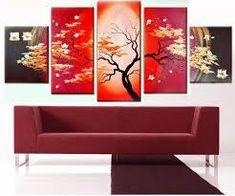 Resultado de imagen para cuadros abstractos rojos  minimalismo