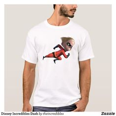 Disney Incredibles Dash T-Shirt. Are you a fan of The Incredibles? Here are cool customizable designs that makes perfect gifts for friend, families or yourself. Disney Incredibles, Disney Pixar, Personalized Products, Fitness Models, Families, Fan, Birthday, Casual, Sleeves