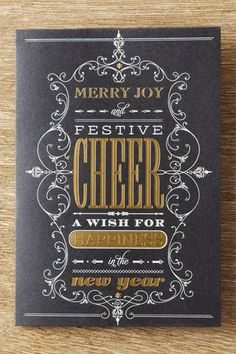 I like this wording - a little bit different for a Christmas card!