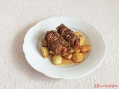 Hovězí závitky se šunkou a olivou - eKucharka.cz Steak, Beef, Food, Red Peppers, Meat, Ox, Ground Beef, Meals, Steaks