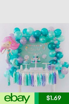 new Ideas birthday balloons bedroom parties decorations Baby Shower Party Favors, Birthday Party Favors, Birthday Balloons, Birthday Ideas, Fourth Birthday, Moana Party Decorations, Birthday Party Decorations, Little Mermaid Birthday, Little Mermaid Parties
