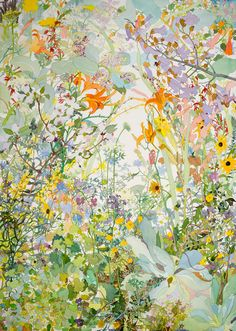 Joan Becker, Spring Watercolor, 40 x 30 Painting Inspiration, Art Inspo, Watercolor Art, Watercolor Flowers, Watercolor Portraits, Watercolor Landscape, Oeuvre D'art, Wall Collage, Painting & Drawing