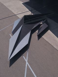 Prima installation for Swarovski at Vitra Campus.  An angular installation by Zaha Hadid has been unveiled in front of the architect's Fire Station at the Vitra Campus in Weil am Rhein, Germany