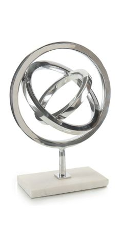Limited Production Design & Stock: Polished Nickel Gyroscope Sculpture * White Marble Base * 20 x 15 x 7 inches Luxury Wedding Gifts, Luxury Gifts For Women, Sculptures For Sale, Contemporary Sculpture, Luxury Home Decor, New Home Gifts, Inspirational Gifts, Interior Design Inspiration, Decorative Objects
