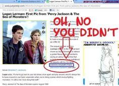 When Annabeth sees this, well, whoever wrote that article, I'll go to your funeral. <- I won't.