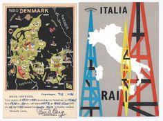 Past Print: Vintage Mid-Century QSL cards