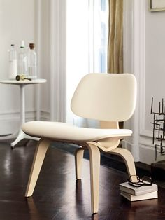 So good in white. Eames Upholstered Molded Plywood Lounge Chair, LCW (1946), designed by Charles and Ray Eames.