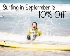 10% OFF SURFING IN SEPTEMBER! Use code: EndlessSummer at checkout. Can be used on all lessons, Adult Surf Retreats, and After School Programs that are booked for September. Cannot be applied to packages. Restrictions may apply. ____________________________________ San Diego Surf School San Diego, CA . 🌐 Website: www.sandiegosurfingschool.com 📸: @nikpicslife . ☎️ PB Phone: (858) 205-7683 ☎️ OB Office: (619) 987-0115 . #SanDiegoSurfSchool . Learn To Surf, Pacific Beach, School Programs, After School, Ocean Beach, Fun Things, San Diego, Surfing, September