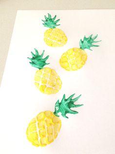 DIY Pineapple Potato Stamp.