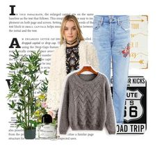 """""""bauty"""" by gadinarmada-1 ❤ liked on Polyvore featuring Citizens of Humanity, Free People, Byredo, WALL and Nearly Natural"""