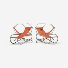 223: Battista and Gino Giudici / set of four deck chairs from Lido Swimming Club, Switzerland < Design, 17 October 2013 < Auctions | Wright