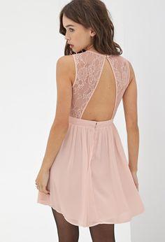 pretty blush lace dress