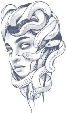 Tattoo Sketches, Tattoo Drawings, Medusa Tattoo Design, Basic Tattoos, Medusa Art, Family Tattoo Designs, Girl Face Drawing, Forearm Sleeve Tattoos, Small Tattoos For Guys