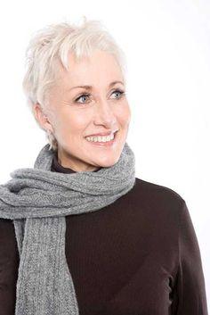 Thin Short Hair for Mature Ladies