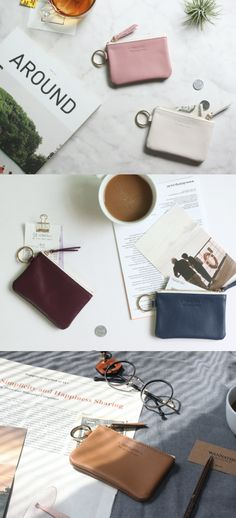 A clean yet elegant card pouch made with quality leather material! Carry your cards, bills, coins and keys conveniently in this one-of-kind card pouch.
