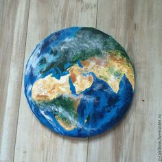 Этно ручной работы. Ярмарка Мастеров - ручная работа. Купить Берегите планету. Handmade. Синий, картина для интерьера, Живопись