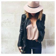 Blush + leather