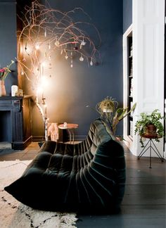 blue interiordark blue interior Fascinating Black Living Room Designs Ideas That Never Go Out Of Fashion