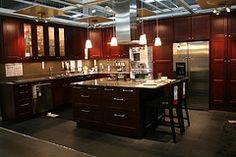 red and brown kitchen - Google Search