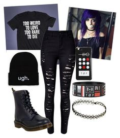 """""""Untitled #939"""" by walkerstalker22 ❤ liked on Polyvore featuring Dr. Martens"""