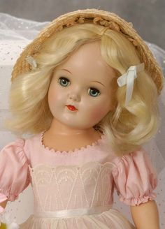 Close Up of Toni (Although not a Madame Alexander Doll she fits into this genre type of dolls)
