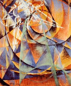 Giacomo Balla / Mercury Passing Before the Sun / 1914 / Tempera on paper lined with canvas