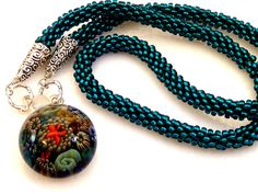 Under the Sea Kumihimo Necklace by LadyBGems on Etsy, $98.00