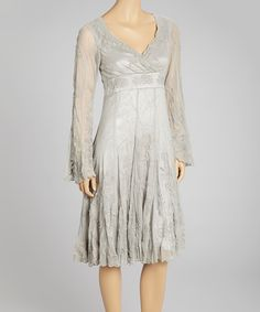 Taupe Louana Silk Dress   Daily deals for moms, babies and kids
