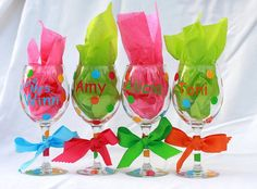 Personalized Wine Glasses Bachelorette Party by IIbyJosie on Etsy, $8.00