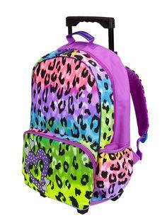 girls clothing roller backpacks leopard roller backpack shop justice