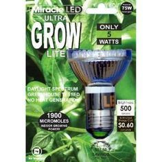 Check out the Miracle LED 605038 Ultra Grow Lite LED Bulb in White priced at $25.99 at Homeclick.com.