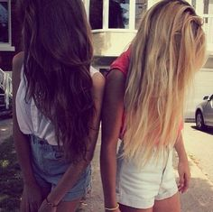 Brunette and blonde.