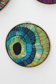 Small Hoop by Alli Scott // embroidery inspiration Hand Embroidery Stitches, Embroidery Hoop Art, Embroidery Techniques, Cross Stitch Embroidery, Embroidery Designs, Contemporary Embroidery, Modern Embroidery, Broderie Simple, Abstract Embroidery